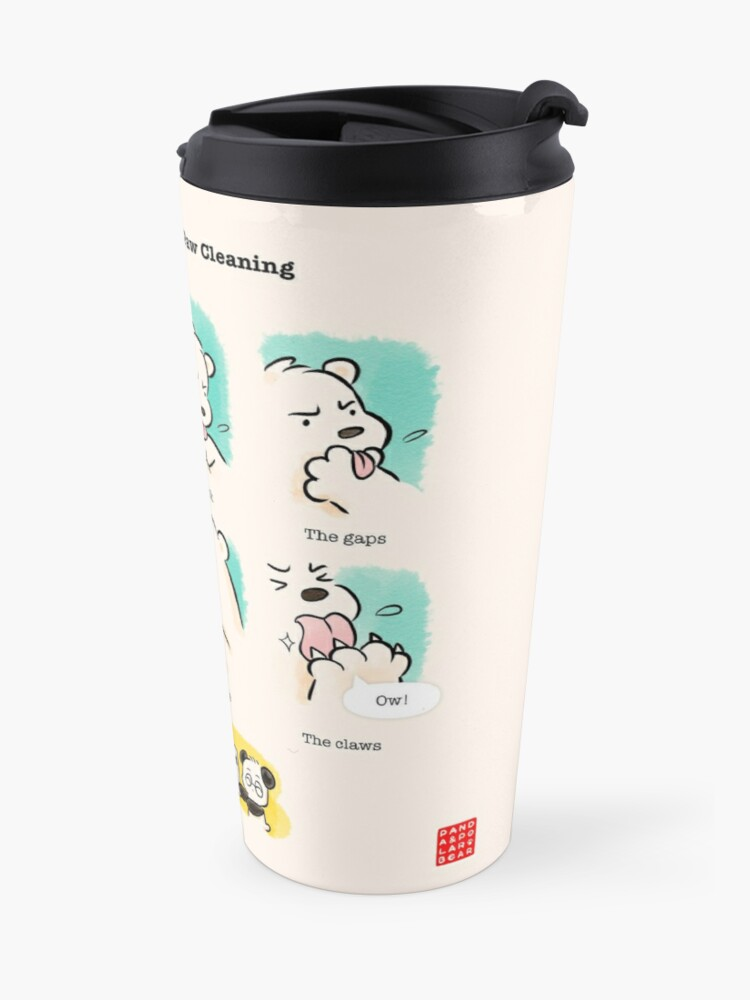 Alternate view of Bear's Guide to Paw Cleaning Travel Mug