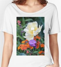 Colorful Flowers Women's Relaxed Fit T-Shirt