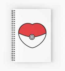 POKEBOLA HEART POKEMON GO Spiral Notebook