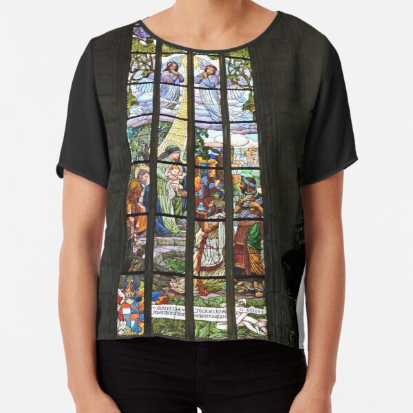 St Barbara's cathedral, Kutna Hora, stained glass window Chiffon Top