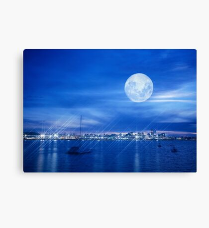Auckland city from North Shore Canvas Print