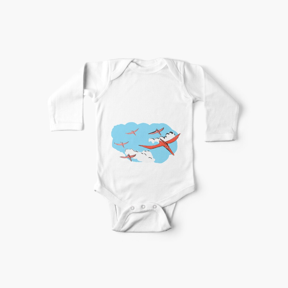 Pterodactyl Flying Squadron Baby One-Piece