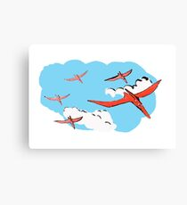Pterodactyl Flying Squadron Canvas Print