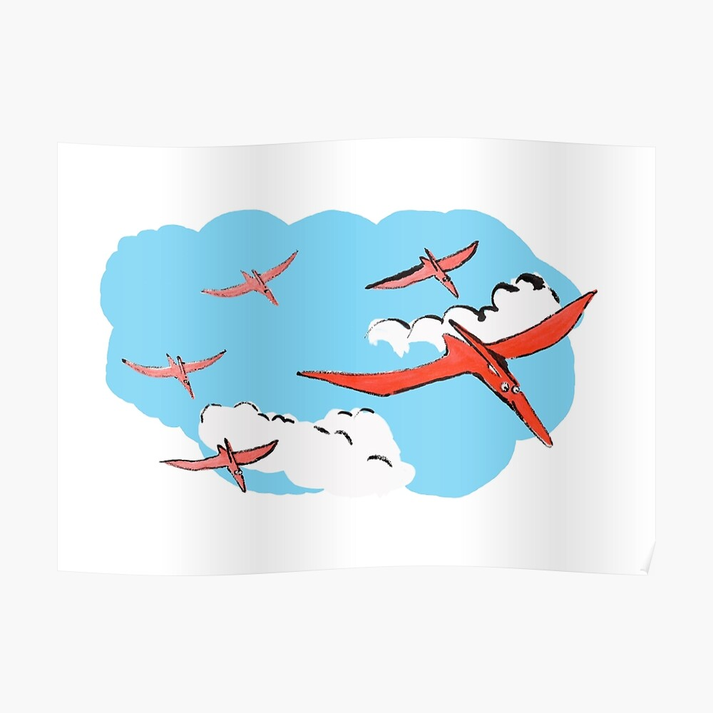 Pterodactyl Flying Squadron Poster