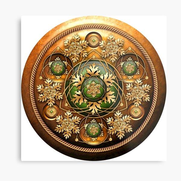 Shield of the Oak King Metal Print