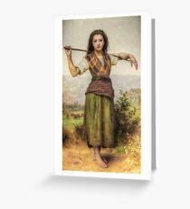 The Shepherdess - HDR Greeting Card