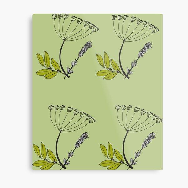 Herbal style herbs Metal Print