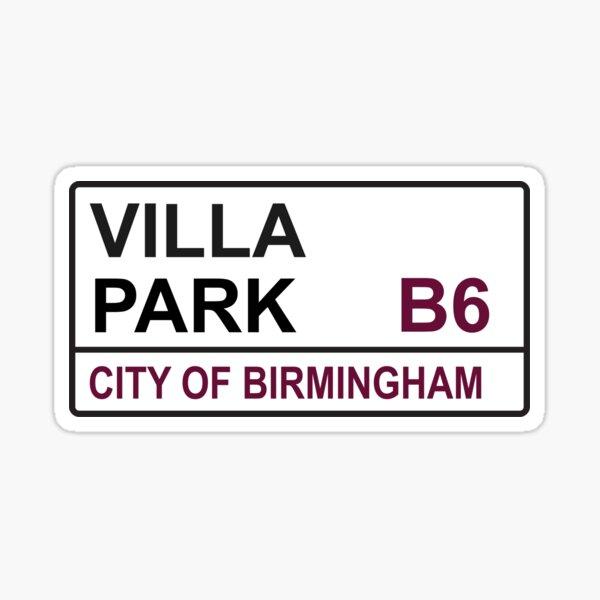 Birmingham Aston Football Team Villa Park Trinity Road Street Sign Sticker