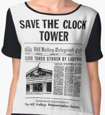 Save the Clocktower Chiffon Top