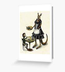 Kangaroo cafe Greeting Card
