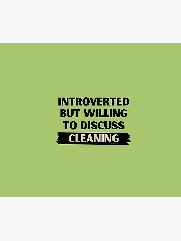 Introverted But Willing to Discuss Cleaning by SavvyCleaner