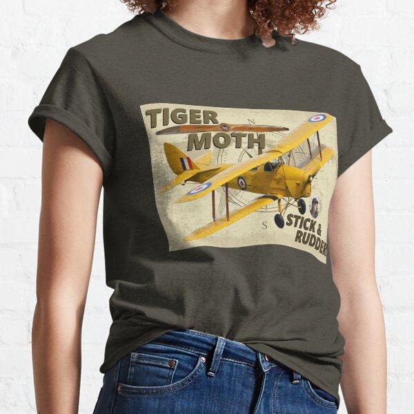 Tiger Moth Stick & rudder Classic T-Shirt
