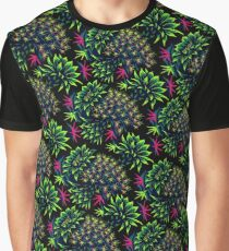 Cactus Floral - Bright Green/Pink Graphic T-Shirt