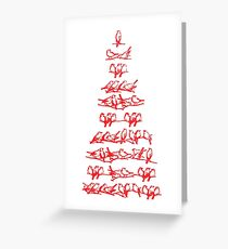 Red Birds Greeting Card