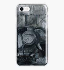 Steam Train Tamworth Station Staffordshire England Charcoals iPhone Case/Skin