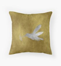 Grunge Hummingbird Throw Pillow