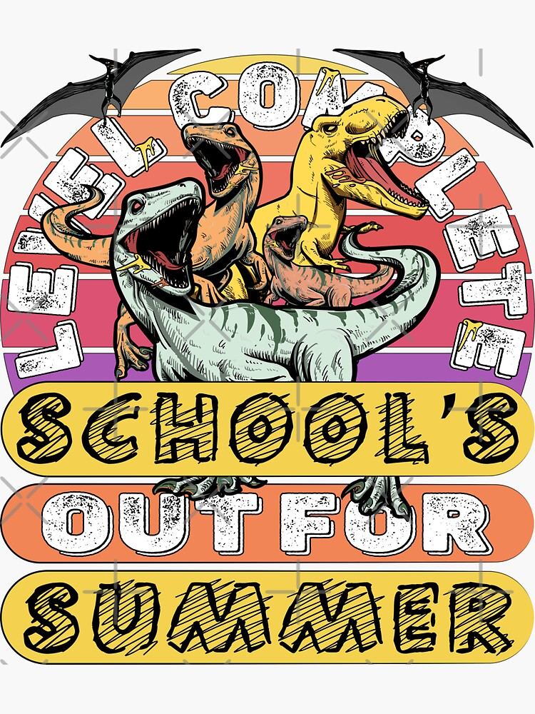 Level Complete Dinosaur I Crushed School's out fo Summer by CWartDesign