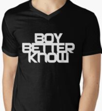 Boy Better Know - Chest Placement (white) Men's V-Neck T-Shirt