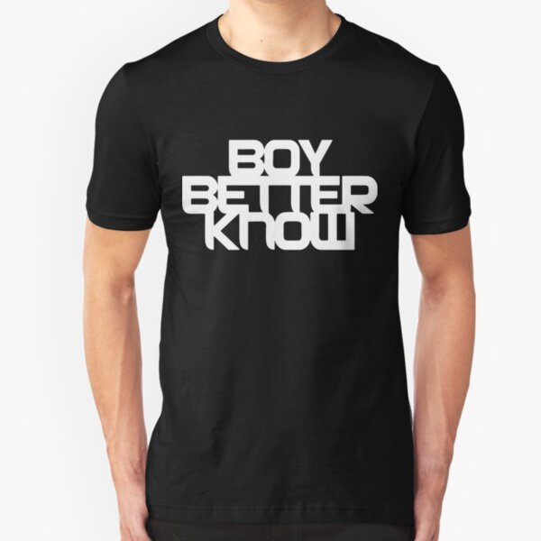 Boy Better Know - Chest Placement (white) Slim Fit T-Shirt