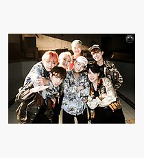 BTS/Bangtan Sonyeondan - Fire Group Photo Photographic Print