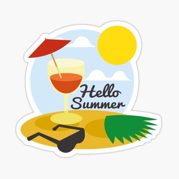 Hello Summer - Summer is back   Sticker