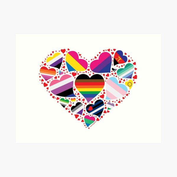 LGBT Pride Heart  Art Print