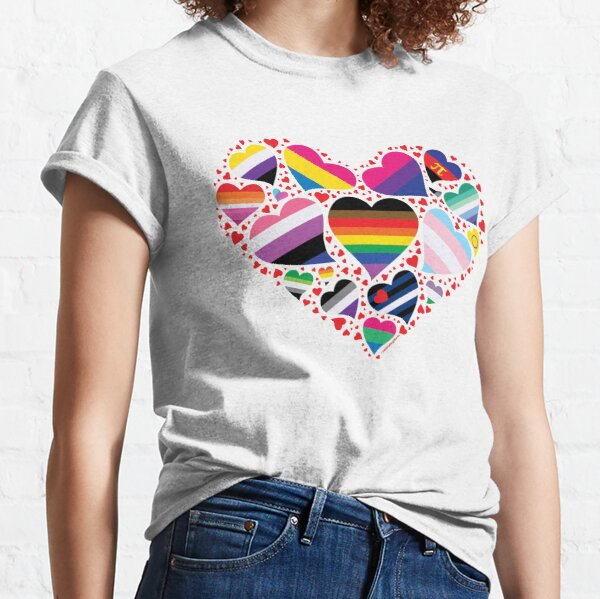LGBT Pride Heart  Classic T-Shirt