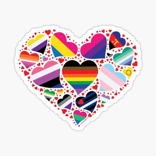 LGBT Pride Heart  Sticker