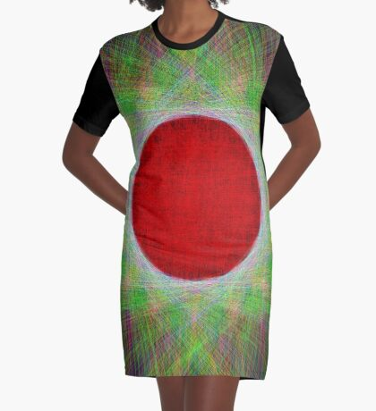 Red Button Planet Graphic T-Shirt Dress