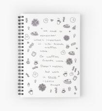 Friends, Waffles, Work Spiral Notebook