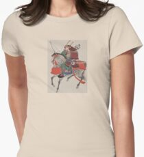Japanese Samurai on Horseback Women's Fitted T-Shirt