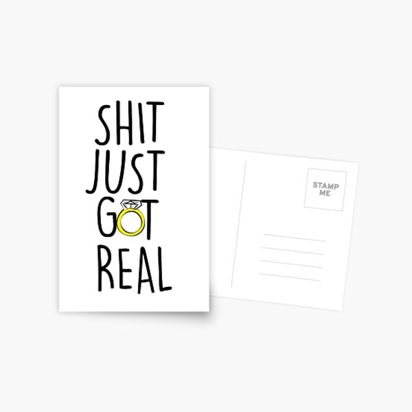 The Engagement  Postcard