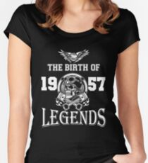 1957-THE BIRTH OF LEGENDS Women's Fitted Scoop T-Shirt