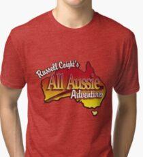 Russell Coight - All Aussie Adventures Logo Tri-blend T-Shirt