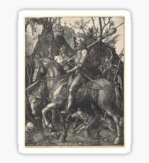 Albrecht Dürer or Durer Knight, Death and Devil Sticker