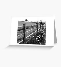 Post and Rail Greeting Card