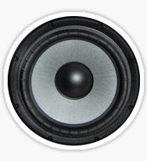 Black Speaker Sticker