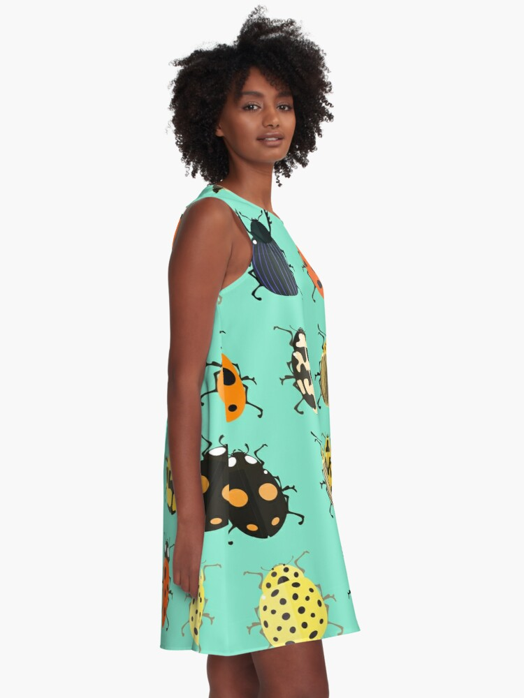 Alternate view of Insects. A-Line Dress