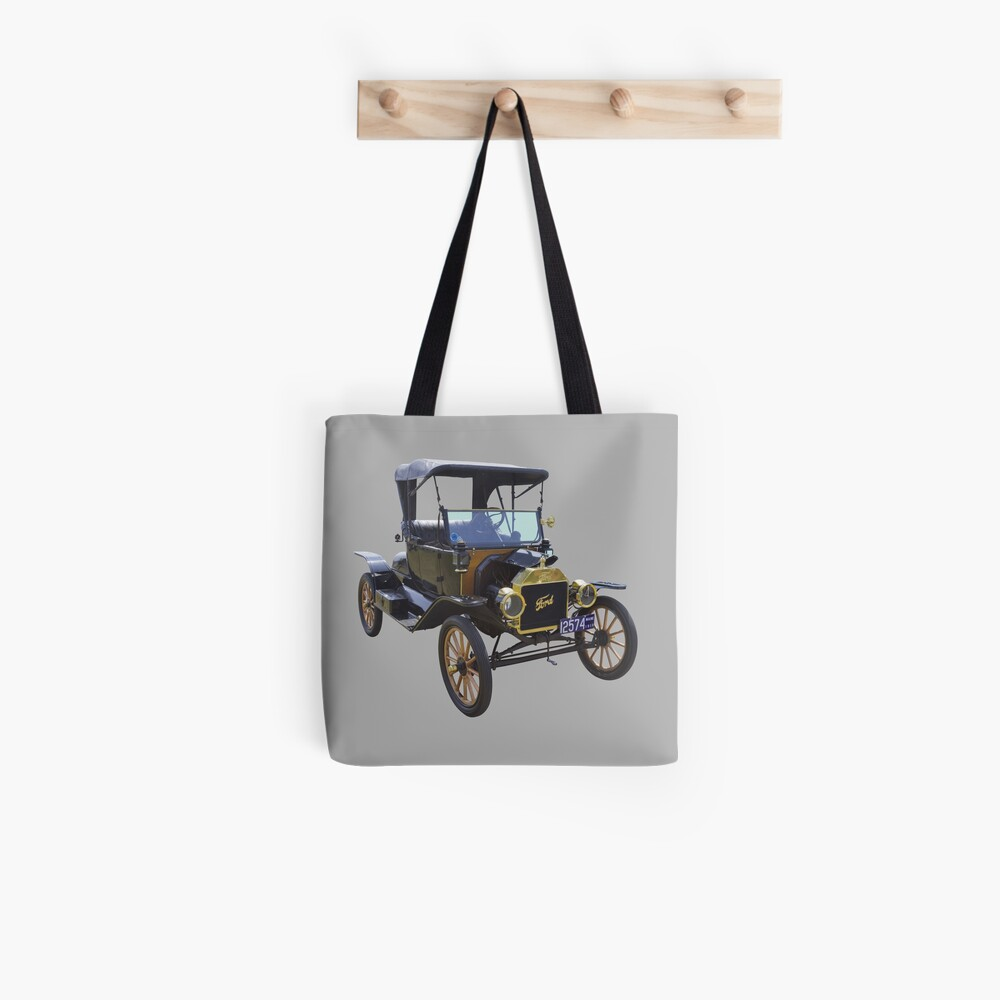1914 Model T Ford Antique Car Tote Bag