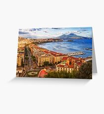 The gulf of Naples Greeting Card