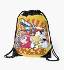 Samurai Pizza Caaaats! Drawstring Bag
