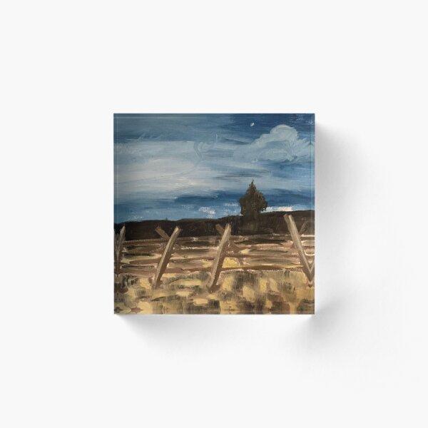 Nighttime Oil Painting Acrylic Block
