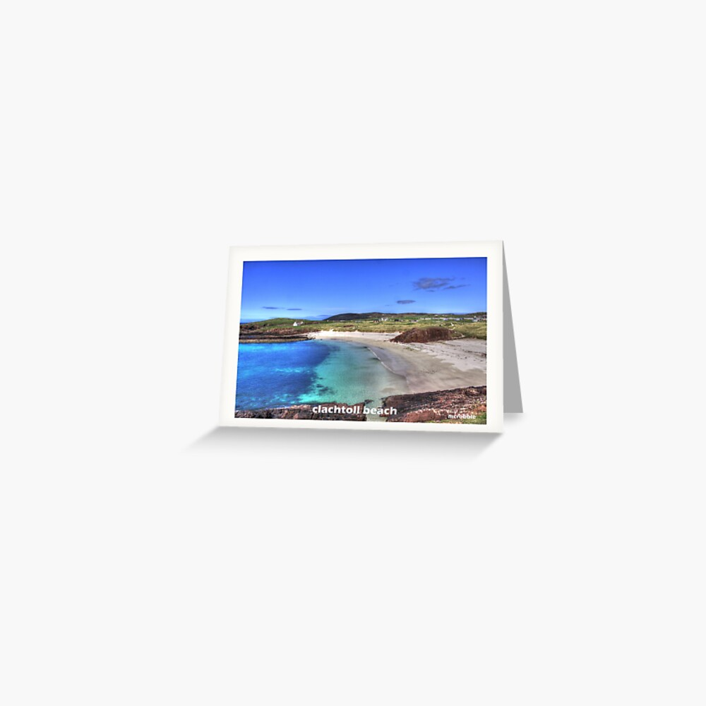 Clachtoll Beach Greeting Card