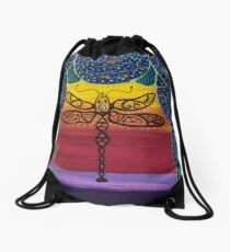 Redreaming Dragonfly Drawstring Bag