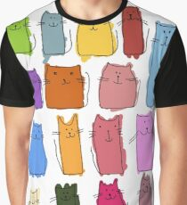 Cute cats, childish style. Graphic T-Shirt
