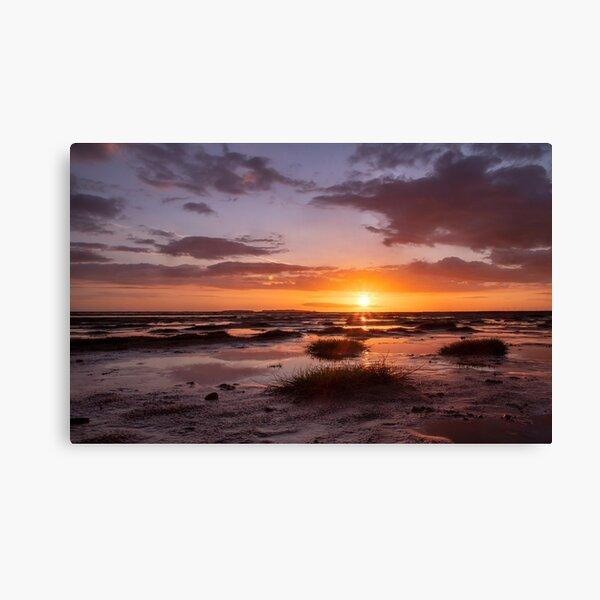 Sunset Hummocks on West Kirby Beach Canvas Print