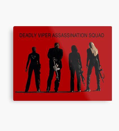 Deadly Viper Assassination escuadra - Kill Bill Lámina metálica