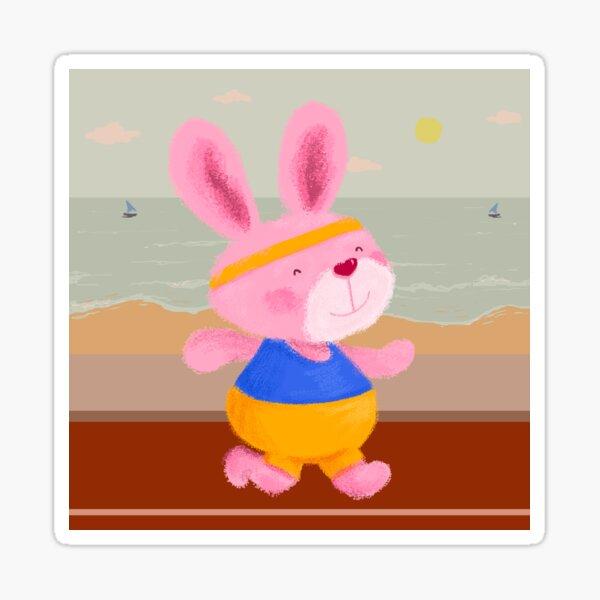 Bunny Runner Sticker