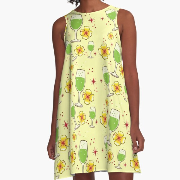 oh lovely green tropical cocktails! A-Line Dress