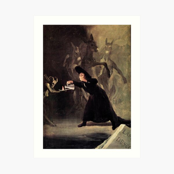 The Bewitched Man (The Devil's Lamp), by Francisco De Goya Art Print